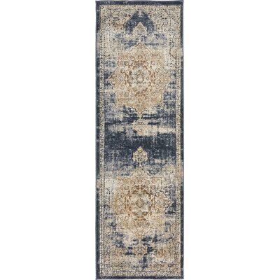 Abbeville Dark Blue/Beige Area Rug by Laurel Foundry Modern Farmhouse