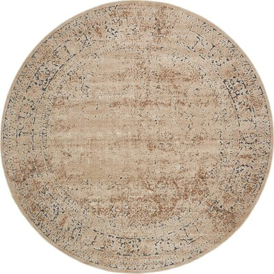 Abbeville Beige Area Rug Rug Size: 8 x 8