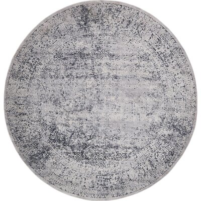 Abbeville Dark Blue/Gray Area Rug Rug Size: 8 x 8