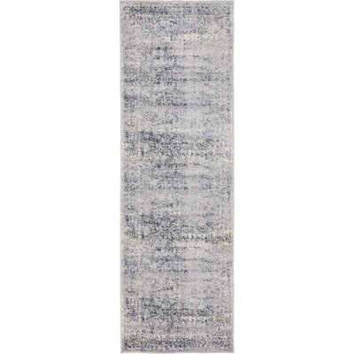 Abbeville Dark Blue/Gray Area Rug Rug Size: Runner 22 x 67