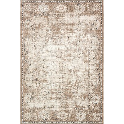 Abbeville Beige/Brown/Black Area Rug Rug Size: 10 x 145