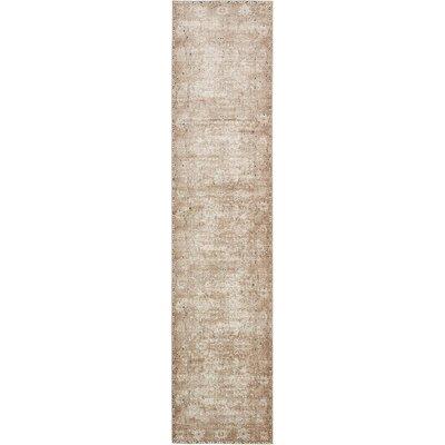 Abbeville Beige/Brown/Black Area Rug Rug Size: Runner 3 x 13