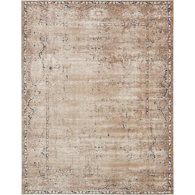 Abbeville Beige/Brown/Black Area Rug Rug Size: 8 x 10