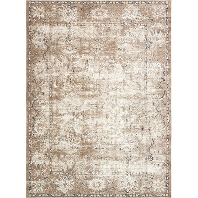 Abbeville Beige/Brown/Black Area Rug Rug Size: 9 x 12