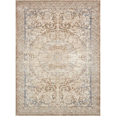 Abbeville Beige Area Rug Rug Size: 9' x 12'