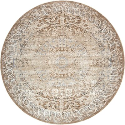 Abbeville Beige Area Rug Rug Size: 8' x 8'