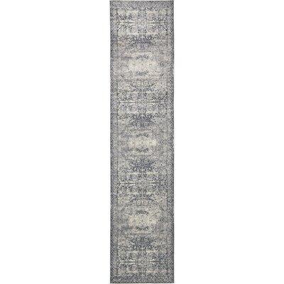 Abbeville Stone Blue Area Rug Rug Size: Runner 3 x 13