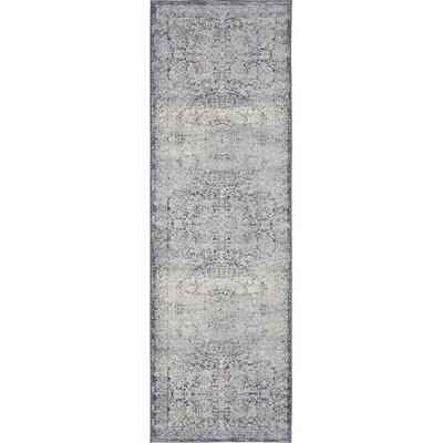 Abbeville Stone Blue Area Rug Rug Size: Runner 22 x 67