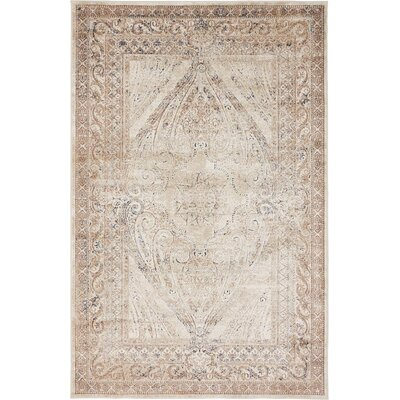 Abbeville Brown/Beige Area Rug Rug Size: 4 x 6