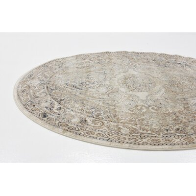 Abbeville Brown/Beige Area Rug Rug Size: 5 x 8