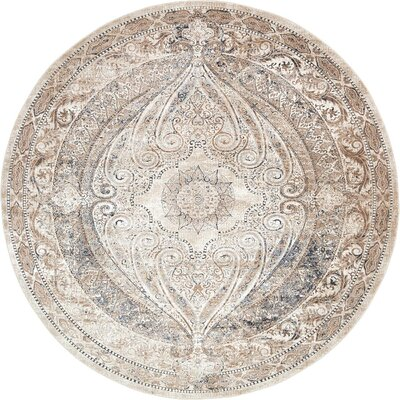 Abbeville Brown/Beige Area Rug Rug Size: 8 x 8