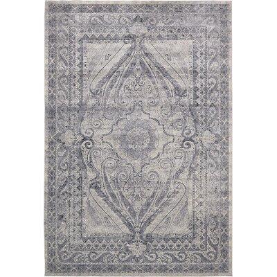 Abbeville Gray/Dark Blue Area Rug Rug Size: 10 x 145