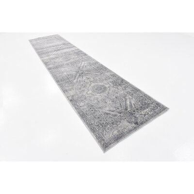 Abbeville Gray/Dark Blue Area Rug Rug Size: Rectangle 9 x 12