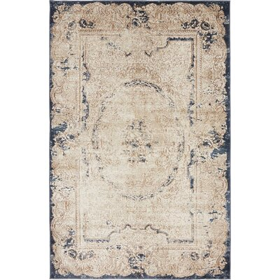 Abbeville Cream Area Rug Rug Size: 4 x 6
