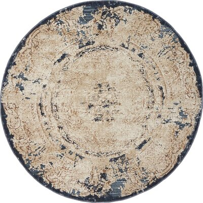 Abbeville Cream Area Rug Rug Size: 4 x 4
