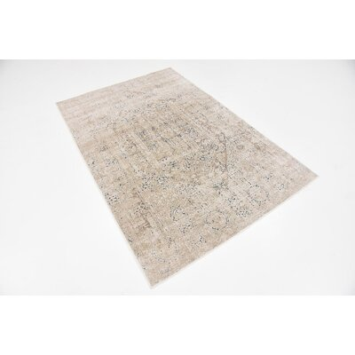 Abbeville Beige Area Rug Rug Size: Rectangle 4 x 6