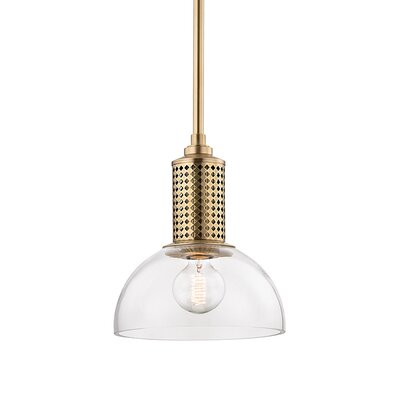 Euphemia 1-Light Mini Pendant Finish: Aged Brass
