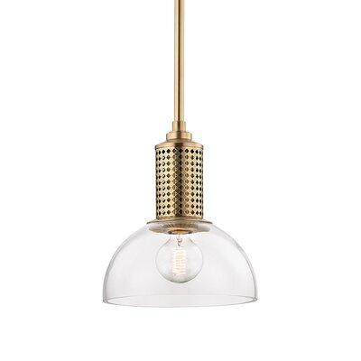 Euphemia 1-Light Mini Pendant Finish: Aged Brass