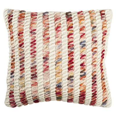 Alencon Candy Cane Looped Throw Pillow