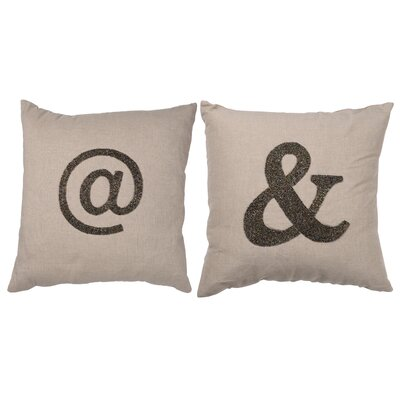 Addison 2 Piece Cotton Linen Throw Pillow Set