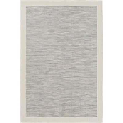 Amelia Blue/Neutral Indoor/Outdoor Area Rug Rug Size: 53 x 77
