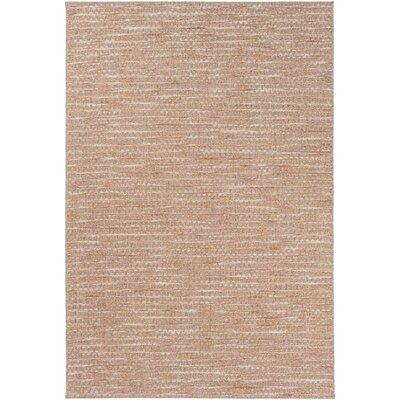 Amelia Brown/Pink Indoor/Outdoor Area Rug Rug Size: 53 x 77