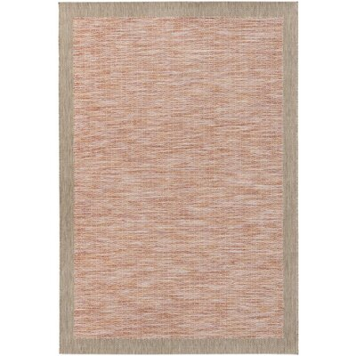 Amelia Orange/Red Indoor/Outdoor Area Rug Rug Size: 711 x 1010