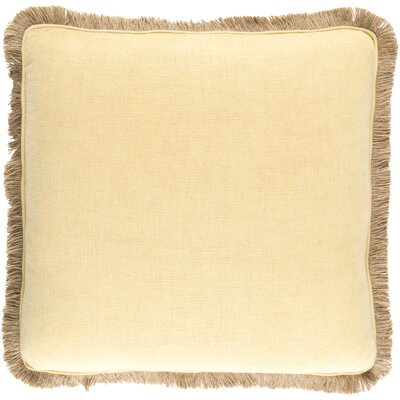 Alayna Throw Pillow Cover Size: 22 H x 22 W x 0.25 D, Color: YellowBrown