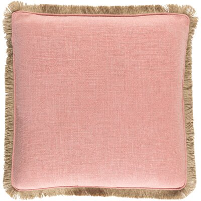 Alayna Throw Pillow Cover Size: 18 H x 18 W x 0.25 D, Color: PinkBrown