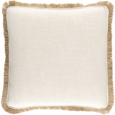 Alayna Throw Pillow Cover Size: 20 H x 20 W x 0.25 D, Color: NeutralBrown