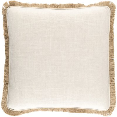 Alayna Throw Pillow Cover Color: NeutralBrown, Size: 20 H x 20 W x 0.25 D
