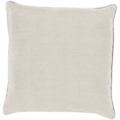 Alienor Linen Piped 100% Linen Throw Pillow Cover Size: 18 H x 18 W x 0.25 D