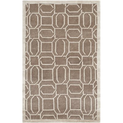 Allentown Hand-Knotted Camel Area Rug Rug Size: 9 x 12