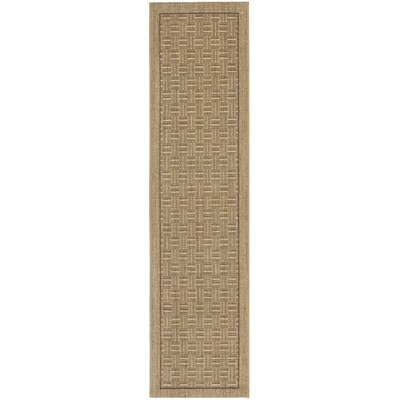 Girard Brown/Tan Area Rug Rug Size: Runner 2 x 8