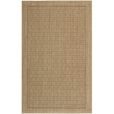 Girard Brown/Tan Area Rug Rug Size: Rectangle 5 x 8