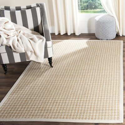 Glendon Hand-Woven Beige/Gray Area Rug Rug Size: Rectangle 4 x 6