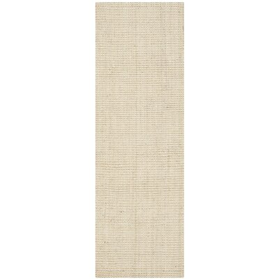 Muriel Hand-Woven Ivory Area Rug Rug Size: Runner 23 x 13