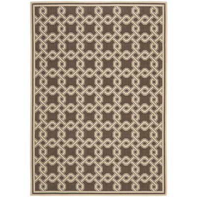 Chocolate/Cream Area Rug Rug Size: Rectangle 67 x 96