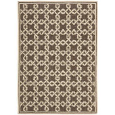 Chocolate/Cream Area Rug Rug Size: 67 x 96