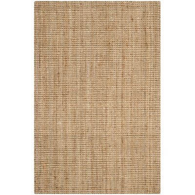 Almira Hand-Woven Natural Area Rug Rug Size: 2 x 3