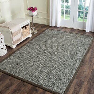 Gordon Hand-Woven Black/Gray Area Rug Rug Size: Rectangle 8 x 10