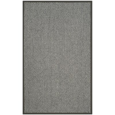 Gordon Hand-Woven Black/Gray Area Rug Rug Size: Rectangle 5 x 8