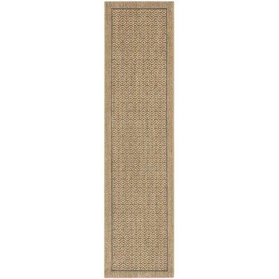 Grampian Beige/Gray Area Rug Rug Size: Runner 2 x 8