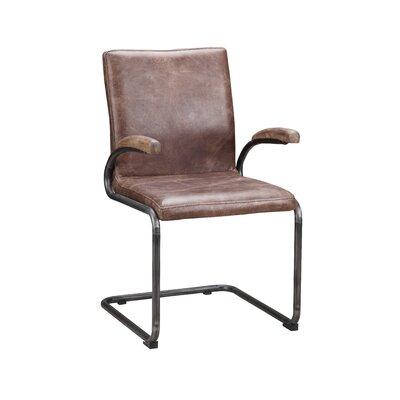 Alexander Arm Chair Color: Brown