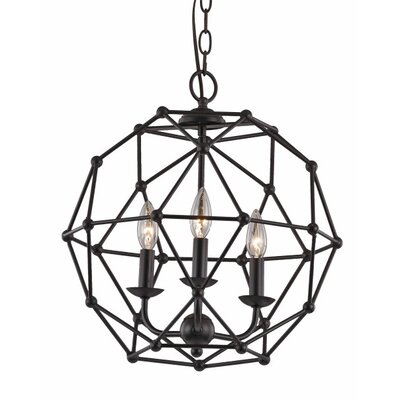 Terria 3-Light Globe Pendant Finish: Rubbed Oil Bronze