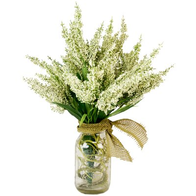Amalia Spring Additions White Heather in Acrylic Water Mason Jar LRFY1344 32407694