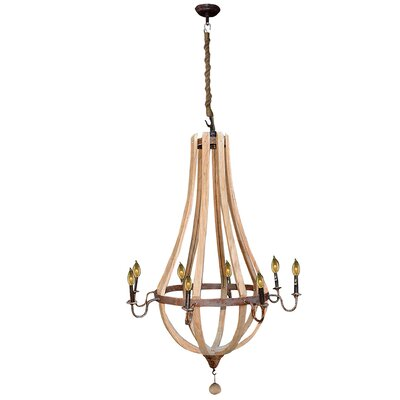Amberly 8-Light Candle-Style Chandelier