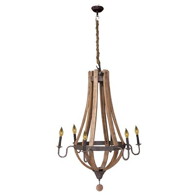 Cecilwood Traditional 6-Light Candle-Style Chandelier