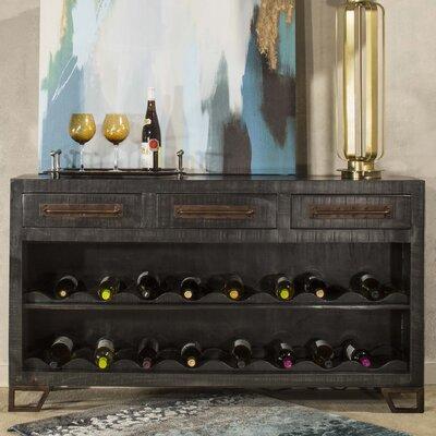 Connie 16 Bottle Floor Wine Rack Finish: Black