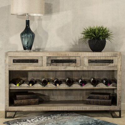 Connie 16 Bottle Floor Wine Rack Finish: Tan